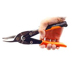 Ножницы по металлу Finder No.191810 Professional прямые 255 мм для тонкого металла прорезиненные рукоятки
