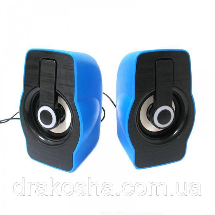 Компьютерные колонки акустика 2.0 USB FnT FT-185 Синие
