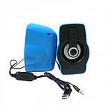 Компьютерные колонки акустика 2.0 USB FnT FT-185 Синие, фото 3