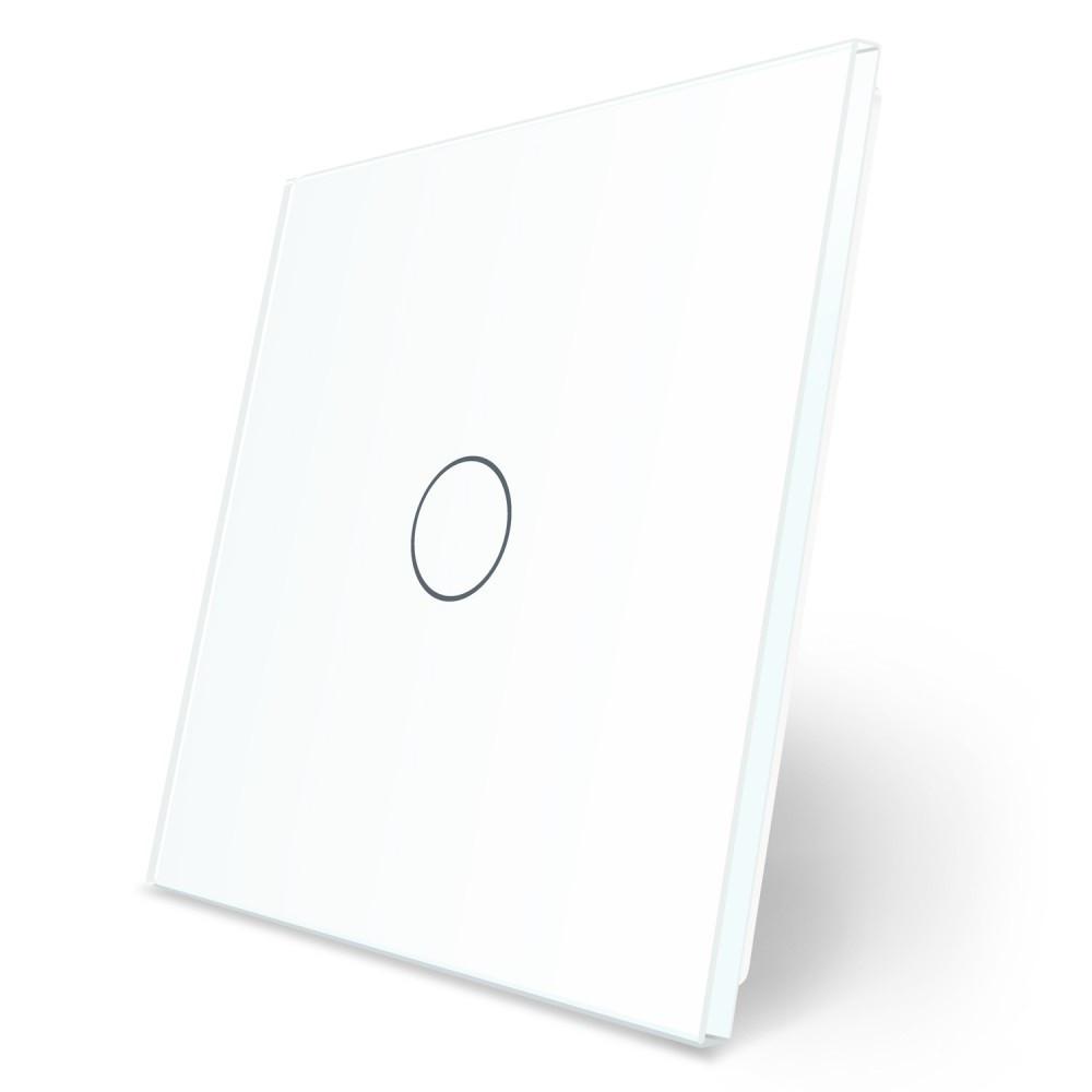 Лицевая панель для сенсорного выключателя Livolo 1 канал белый стекло (VL-C7-C1-11)