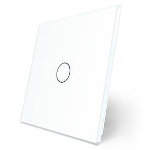 Лицевая панель для сенсорного выключателя Livolo 1 канал белый стекло (VL-C7-C1-11), фото 2