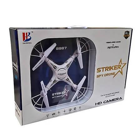 Квадрокоптер Striker Spy Drone 8987 c HD камера + ПОДАРОК: Настенный Фонарик с регулятором BL-8772A, фото 2