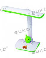 Настольная детская лампа WT025-11W G23 БЕЛЫЙ+ЗЕЛЕНЫЙ
