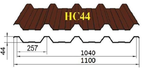 Профнастил НС-44 глянец 0,40 мм