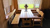 Садовая мебель из массива дерева 1200х800 от производителя для дачи, ресторанов, комплект Furniture set - 04/2