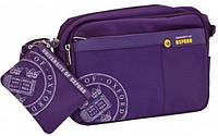 Сумка молодежная Оксфорд(Oxford) с кошельком,фиолетовая 552605/ Х110