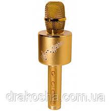 Беспроводной микрофон караоке блютуз YS 66 Bluetooth динамик USB Золотой