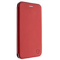 Чехол-книжка для HUAWEI P30 красный, кожаный