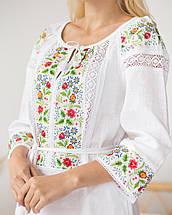 Біла сукня вишиванка з квітами Ятрань, фото 2