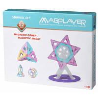 Конструктор Magplayer магнитный набор 52 эл (MPH2-52)