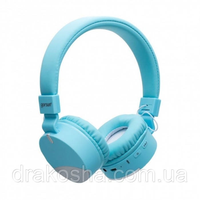 Беспроводные Bluetooth наушники Gorsun GS-E86 Micro SD Голубой с серым