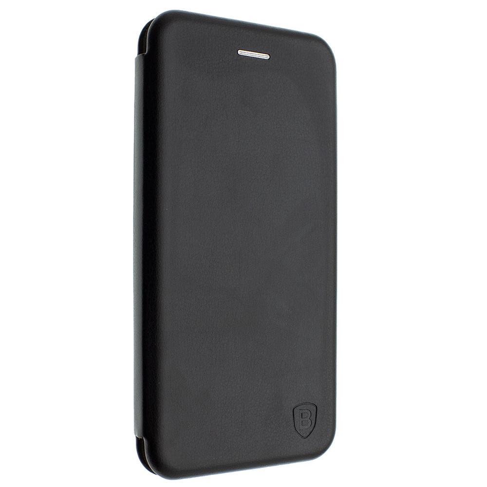 Чехол-книжка для Huawei Y5 (2018) черный, кожаный