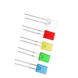Светодиод 2*5*7мм прямоугольный, Желтый, фото 3