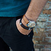 Часы ZIZ Карта (ремешок кофейно - шоколадный, серебро) + дополнительный ремешок