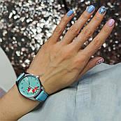 Часы ZIZ Маленький лис (ремешок небесно - голубой, серебро) + дополнительный ремешок
