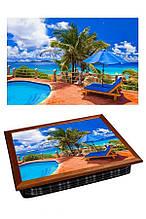 Поднос на подушке BST 040338 4436 коричневый Майами отдыхает 040338, КОД: 1404178