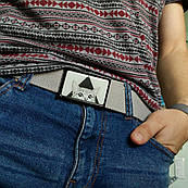 Ремень с рисунком ZIZ Кот, унисекс, женский пояс, мужской ремень