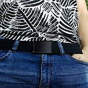 Ремінь чорний ZIZ Мінімалізм, унісекс, жіночий пояс, ремінь чоловічий