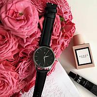 Годинник ZIZ Білим по чорному (ремінець насичено - чорний, срібло) + додатковий ремінець, фото 1