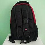 Рюкзак Wenger SwissGear 7655 Размер: 47х33х27  35 литров Чёрный с красным, фото 2