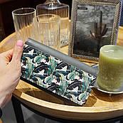 Кошелек ZIZ Пальмовые листья, оригинальный с изображением ( картинкой ) зелёный, к деньгам