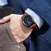 Годинник ZIZ Black на шкіряному ремінці + дод. ремінець + подарункова коробка (4100143)
