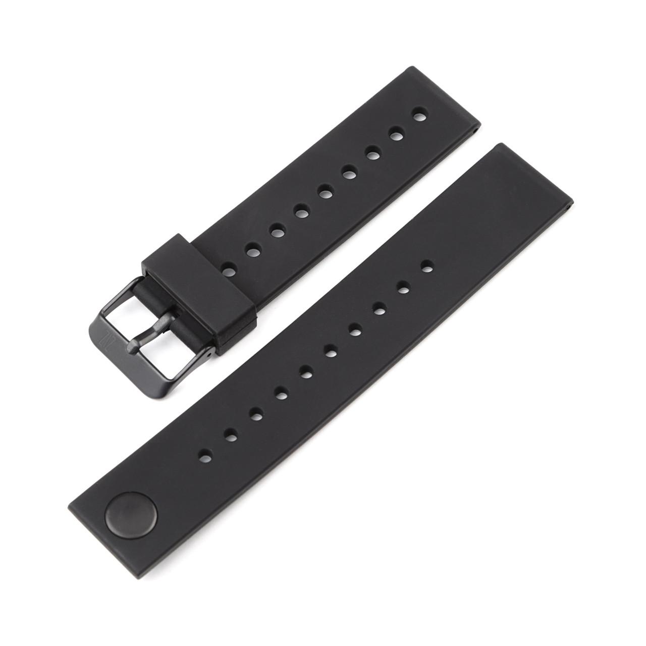 Ремінець для годинника 6 секунд ZIZ силіконовий чорний