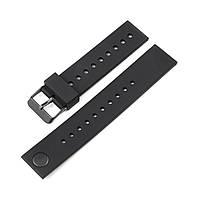 Ремінець для годинника 6 секунд ZIZ силіконовий чорний, фото 1
