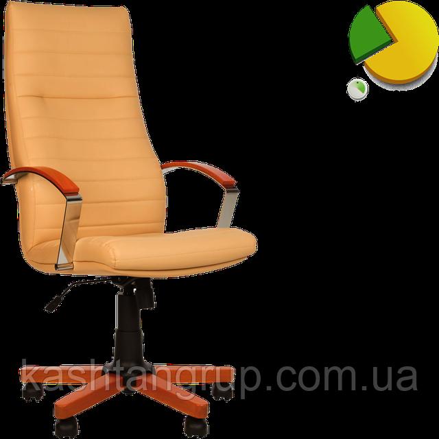 Кресло IRIS wood TILT EX4 Шкіра LUX