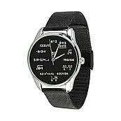 Годинник ZIZ Математика (ремінець з нержавіючої сталі чорний) + додатковий ремінець