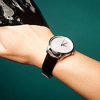 Годинник ZIZ Мінімалізм (ремінець насичено - чорний, срібло) + додатковий ремінець, фото 1