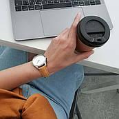 Часы ZIZ Минимализм (ремешок карамельно - коричневый, серебро) + дополнительный ремешок