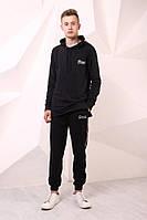 Удлинённая чёрная кофта с капюшоном Quest Wear Long