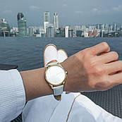Часы ZIZ Минимализм (ремешок кокосово - белый, золото) + дополнительный ремешок