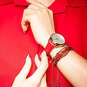 Часы ZIZ Минимализм (ремешок маково - красный, золото) + дополнительный ремешок