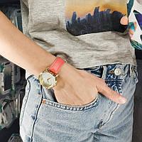 Часы ZIZ Минимализм (ремешок клубнично - коралловый, золото) + дополнительный ремешок, фото 1