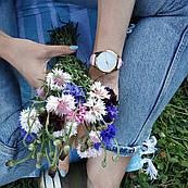 Часы ZIZ Минимализм (ремешок пудрово - розовый, золото) + дополнительный ремешок