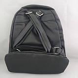 Женский рюкзак с пайетками 21Х25 см чёрный с салатовыми пайетками, фото 2