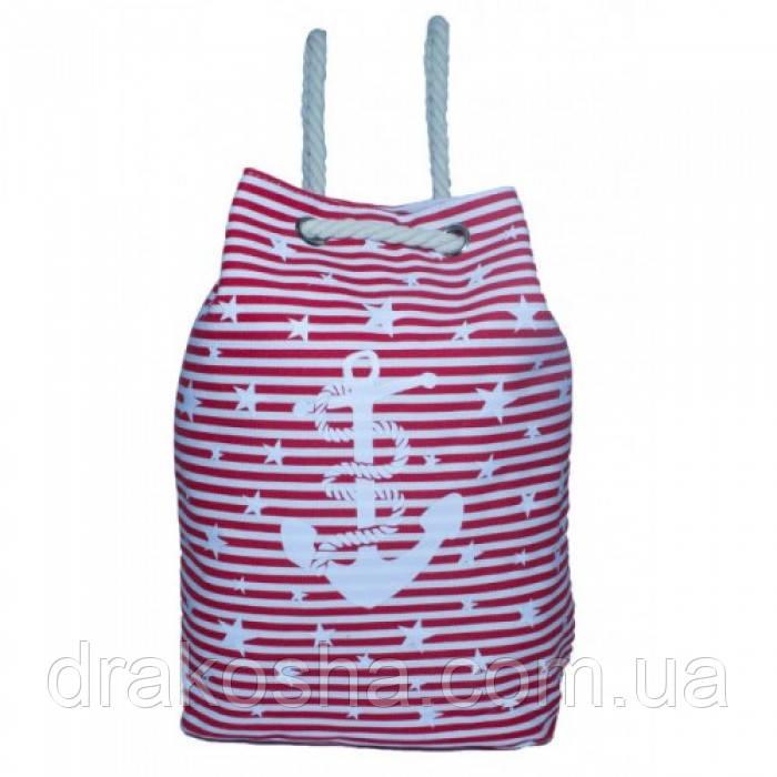 Пляжный рюкзачок Anchor Stars 106 Размер 42x45 Красный