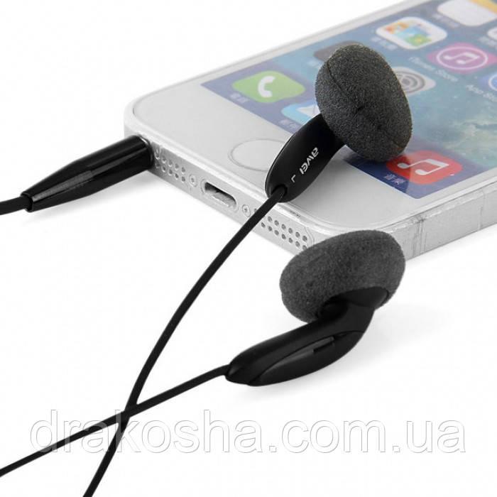 Наушники гарнитура AWEI ES12i с микрофоном Чёрные