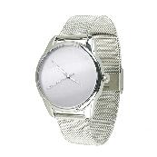 Часы ZIZ Минимализм (ремешок из нержавеющей стали серебро) + дополнительный ремешок