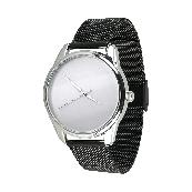 Годинник ZIZ Мінімалізм (ремінець з нержавіючої сталі чорний) + додатковий ремінець
