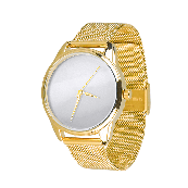Годинник ZIZ Мінімалізм (ремінець з нержавіючої сталі золото) + додатковий ремінець