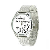 Часы ZIZ Late white (ремешок из нержавеющей стали серебро) + дополнительный ремешок