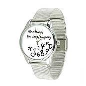 Годинник ZIZ Late white (ремінець з нержавіючої сталі срібло) + додатковий ремінець