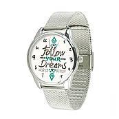 Часы ZIZ За своей мечтой (ремешок из нержавеющей стали серебро) + дополнительный ремешок