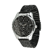 Годинник ZIZ Планети (ремінець з нержавіючої сталі чорний) + додатковий ремінець