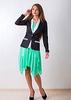 Красевенный женский пиджак модного кроя