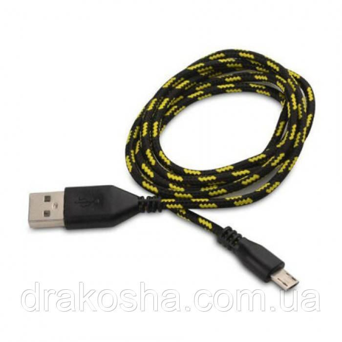 Кабель шнур USB-MICRO USB провод 1 метр в обмотке усиленный