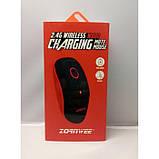 Беспроводная компьютерная мышка ZORNWEE W880 с аккумулятором мышь чёрная с красным, фото 6